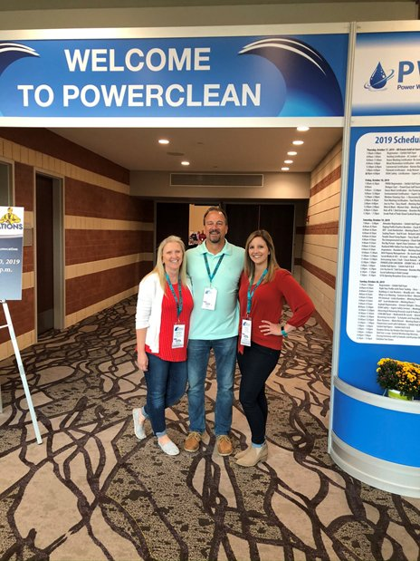 Pictured L to R: Brenda [Vice President], Paul [President], and Ashley [Sales Manager] at the 2019 CETA Convention